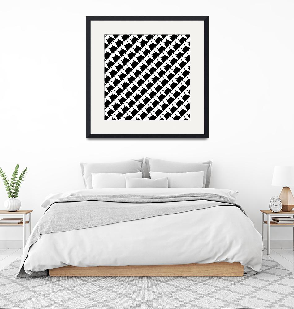 """""""Black and White Pattern""""  (2020) by wcsmack"""