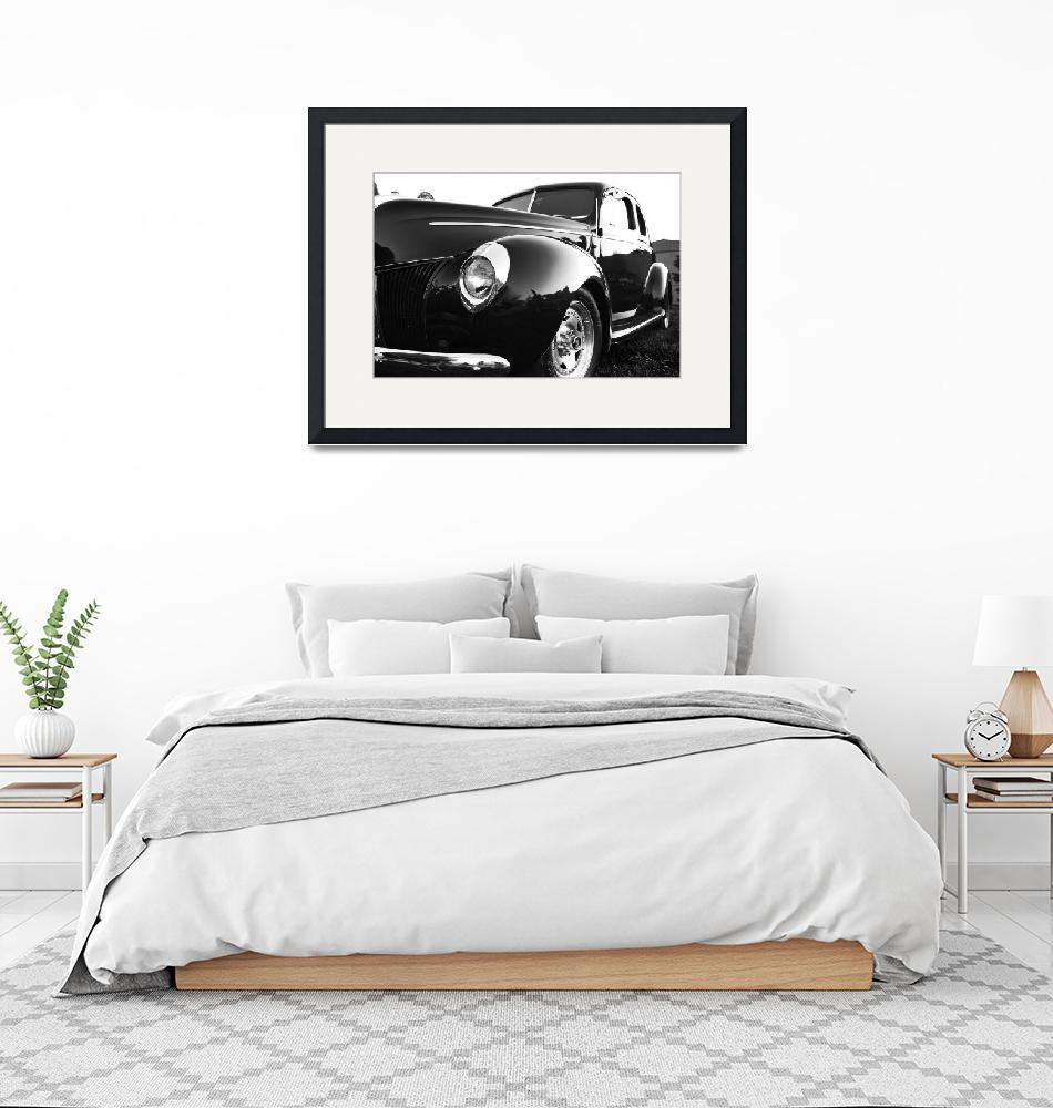 """Black and White Ford 1""  by ScottHovind"