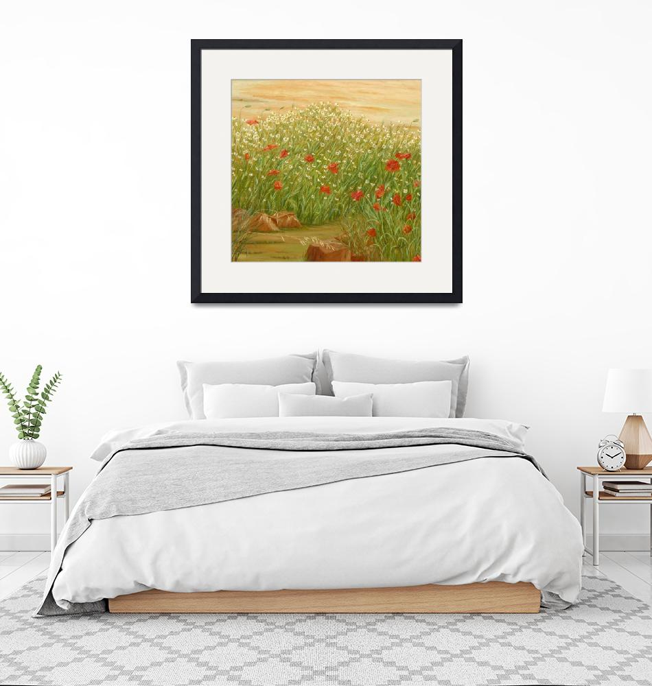 """""""Daisies And Poppies""""  (2016) by angelesmpomata"""