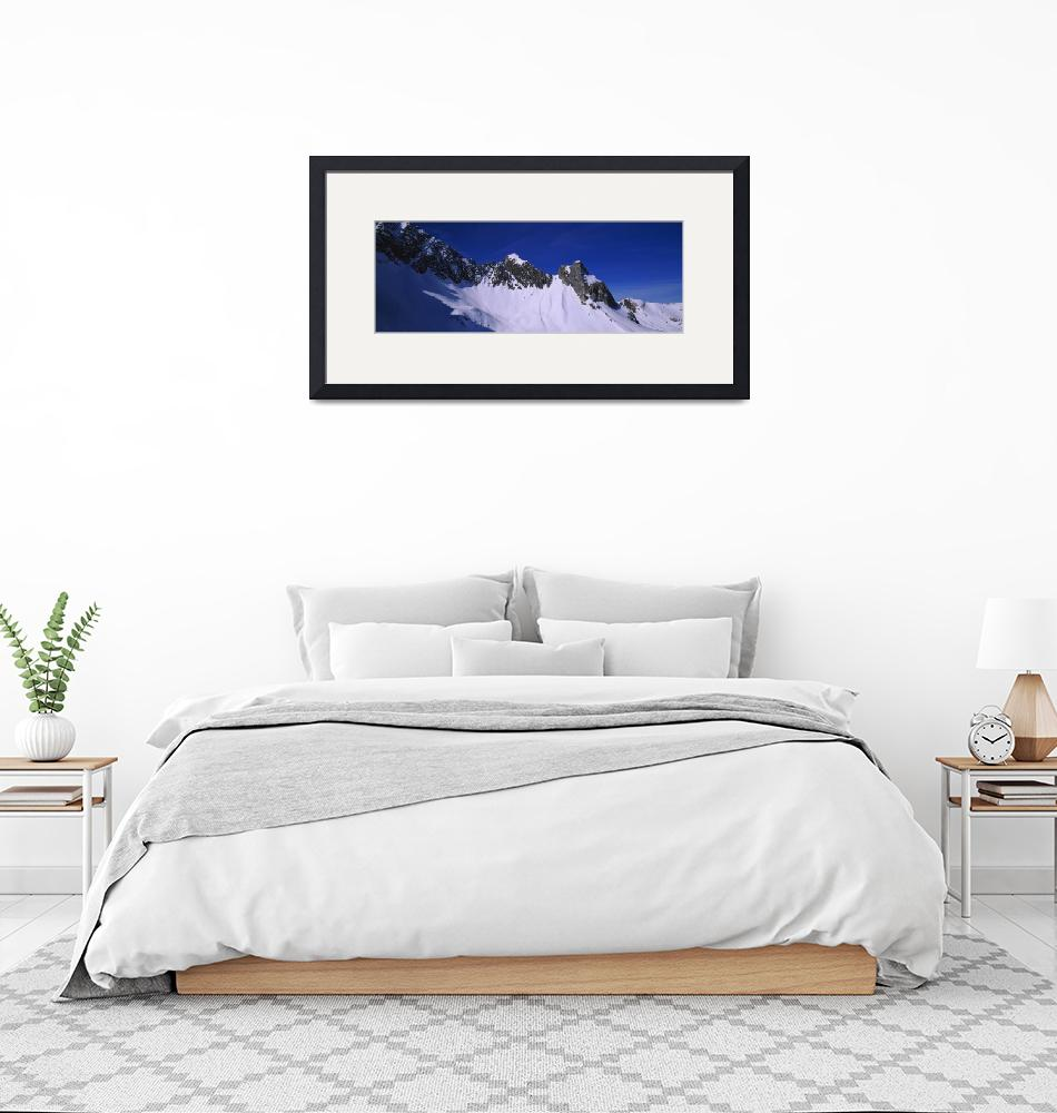 """""""Low angle view of snowcapped mountains""""  by Panoramic_Images"""