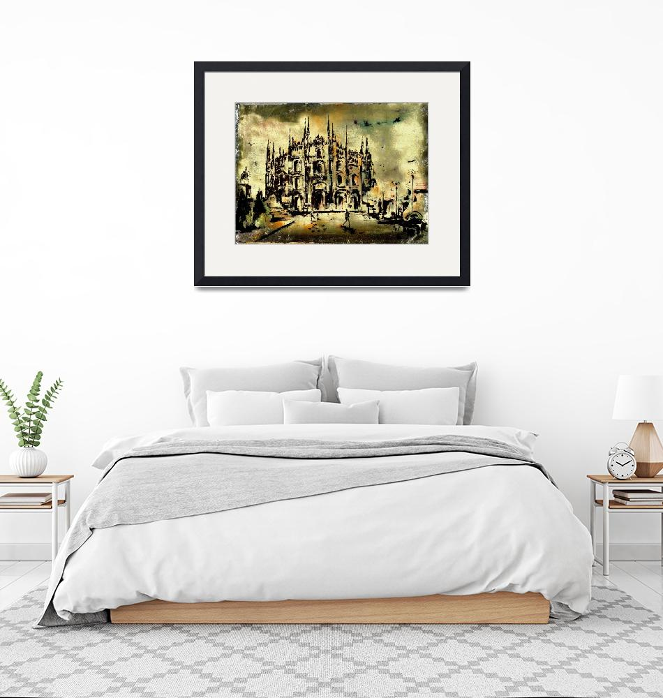 """""""Duomo Milan Italy Art by Ginette""""  (2014) by GinetteCallaway"""