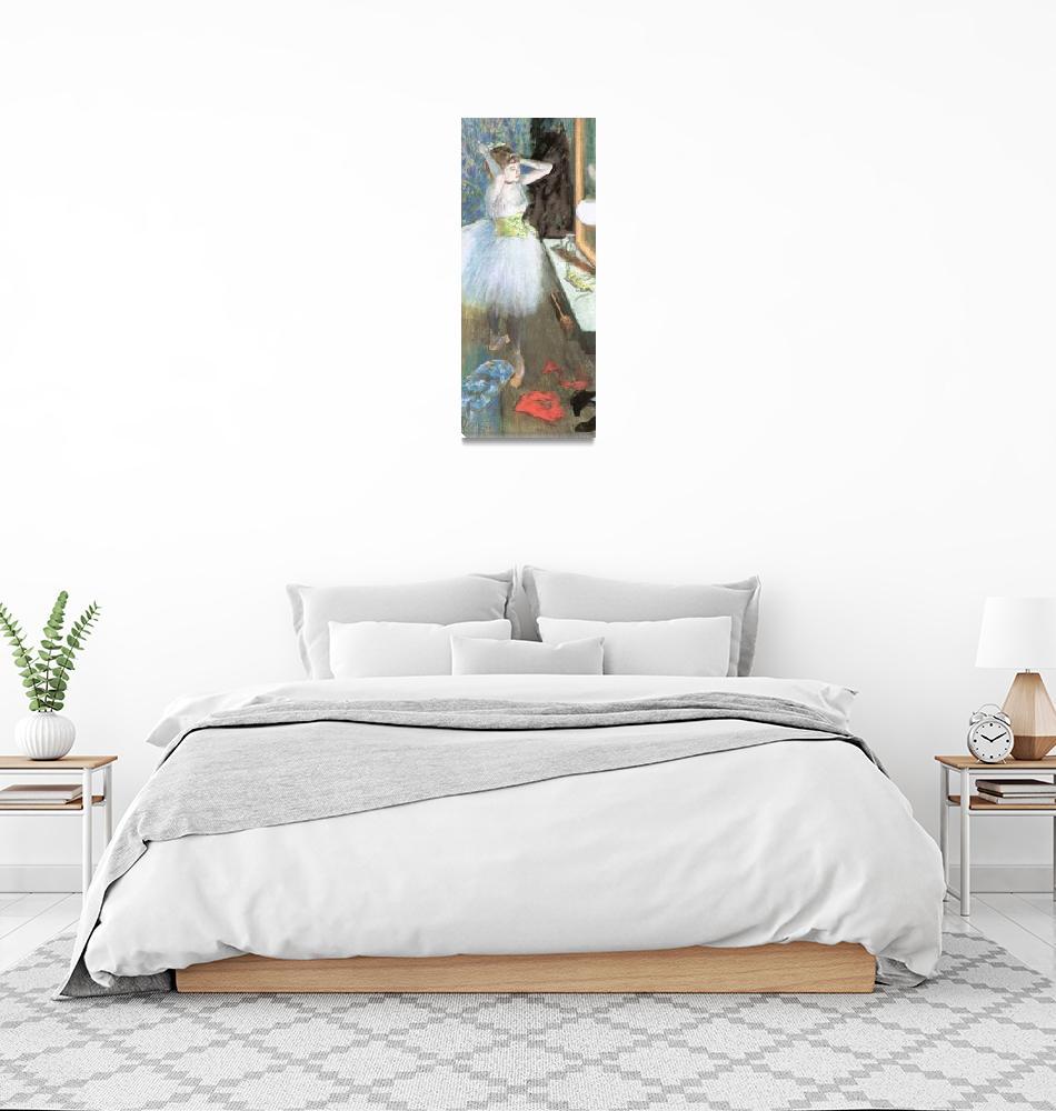 """""""Edgar Degas Dancer In Her Dressing Room""""  by oldies"""