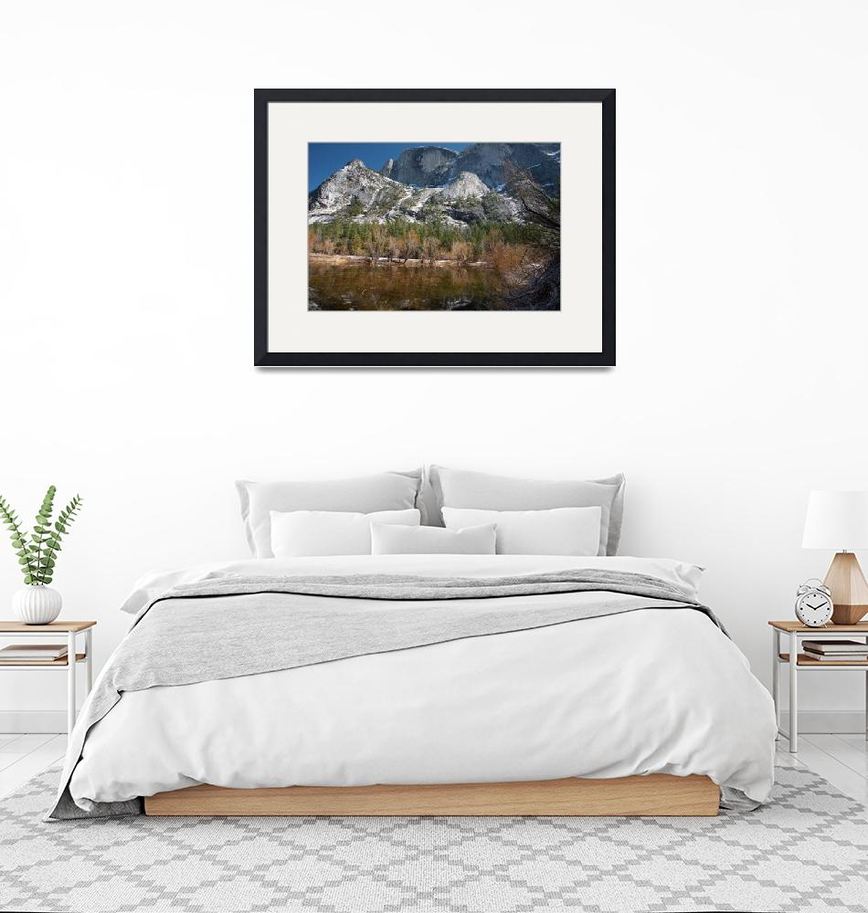 """""""Mirror Lake and Half Dome""""  (2019) by Mun_Sing"""