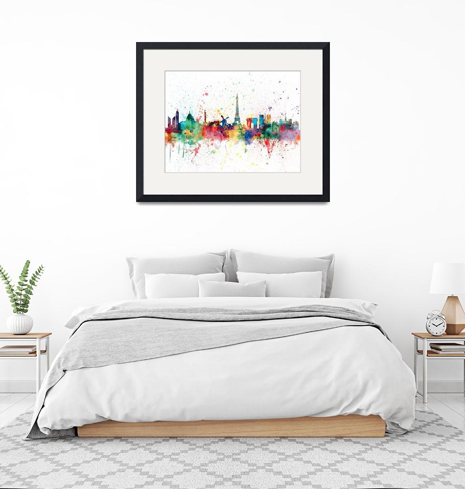 """Paris France Skyline""  (2015) by ModernArtPrints"