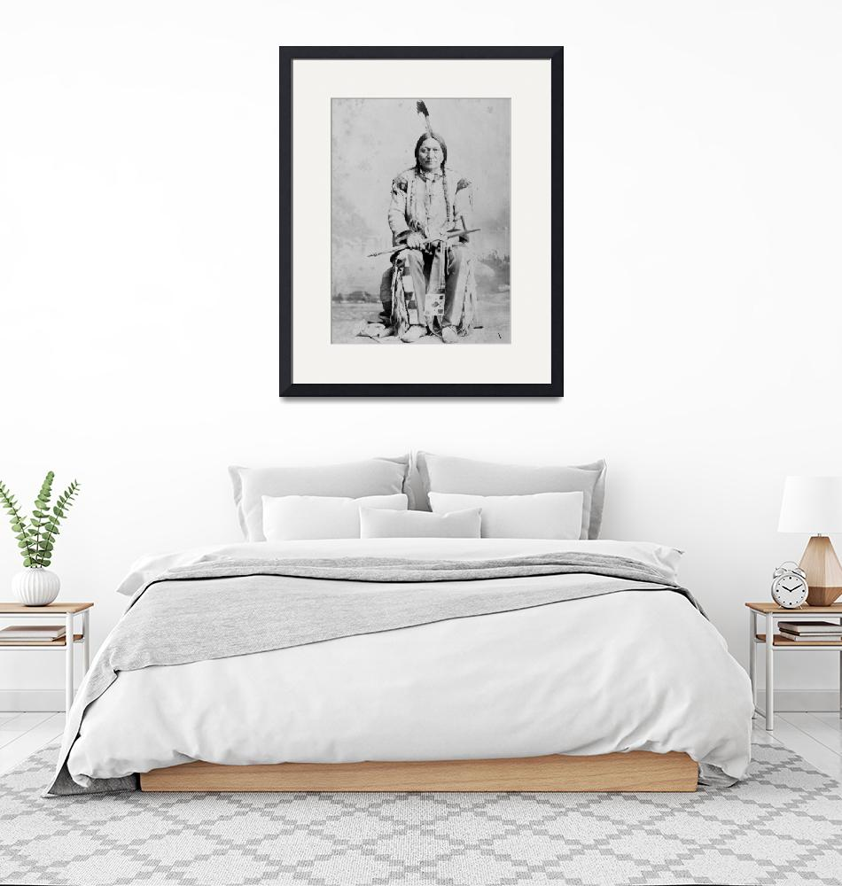 """Vintage Chief Sitting Bull Native American""  by PDGraphics"