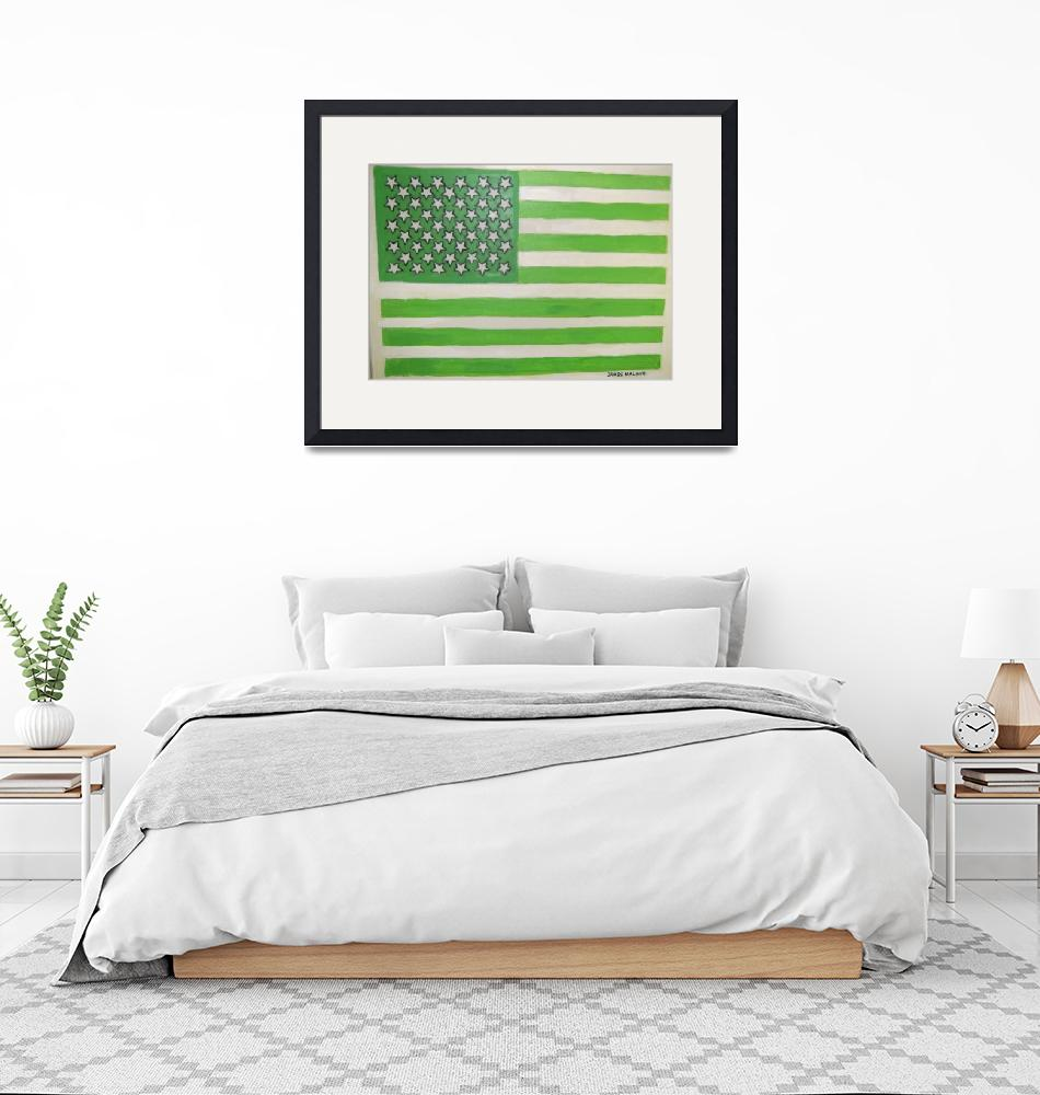 """""""USA  GOES  GREEN!!""""  (2008) by malone"""