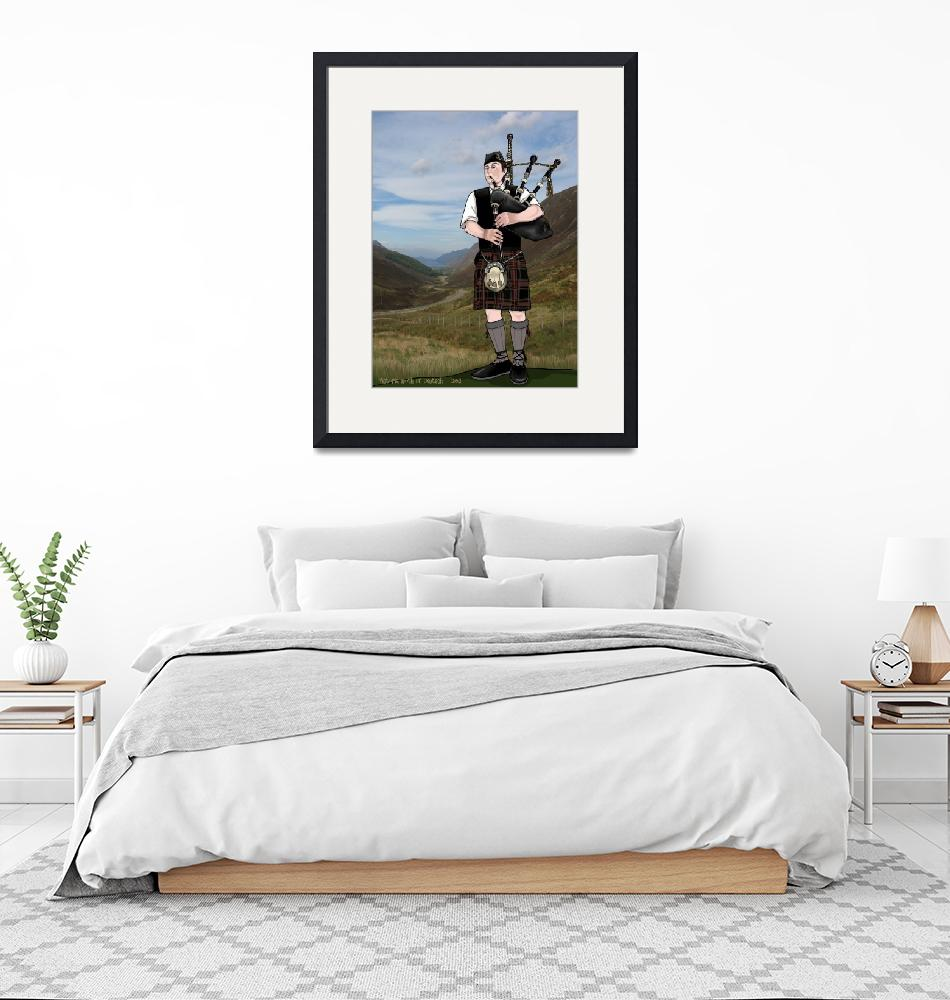 """""""bagpiper from the highlands""""  (2011) by VickiD"""