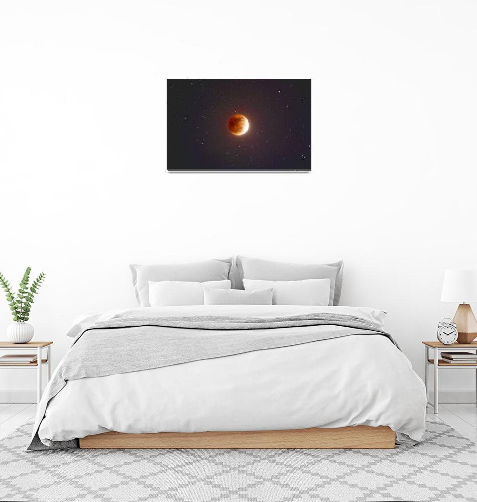 """""""Lunar Eclipse Blood Moon""""  (2015) by ArtHistory"""
