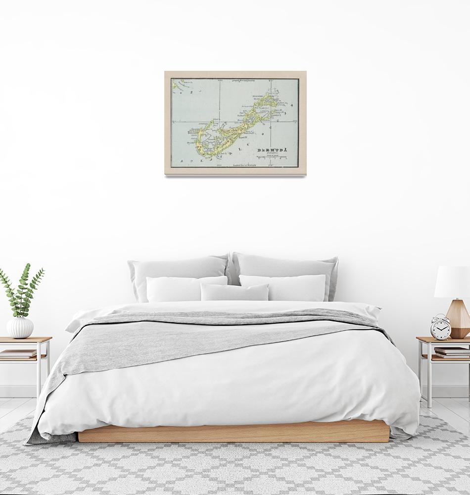 """""""Vintage Bermuda Map (1901)""""  by Alleycatshirts"""