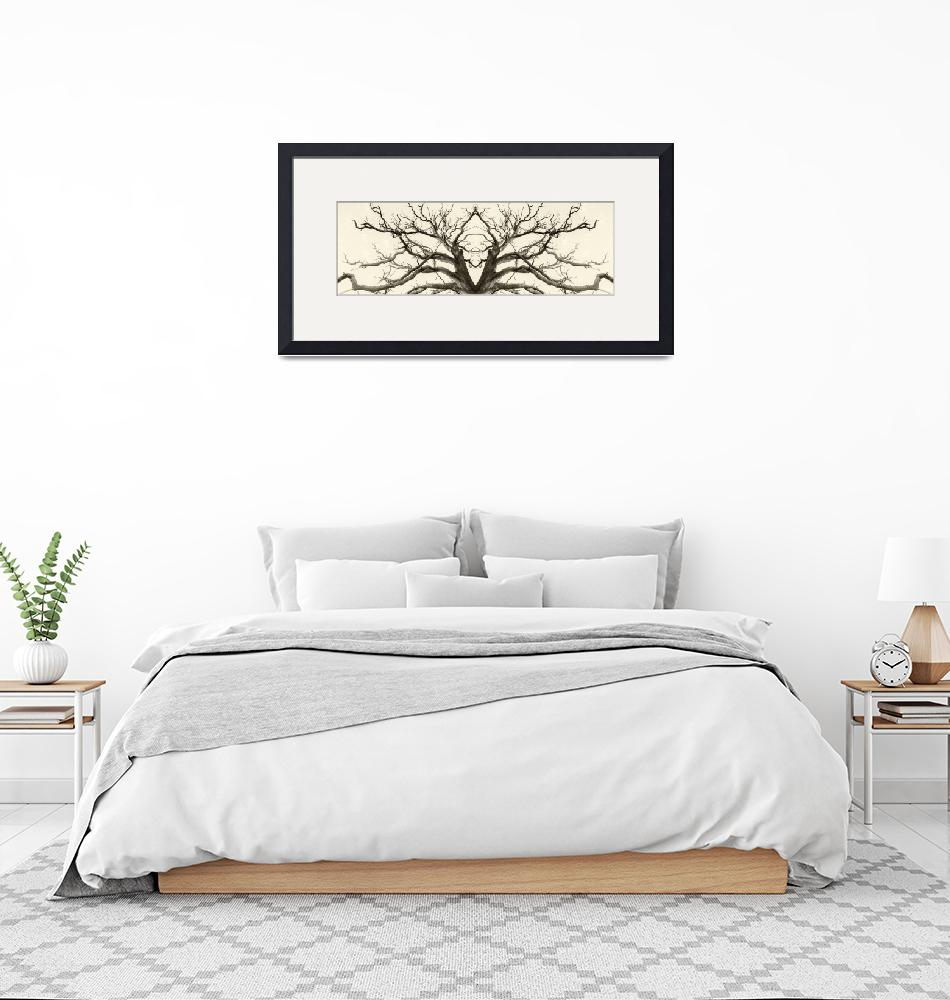 """""""Tree Abstract in Brown""""  by NewWorldArtHome"""