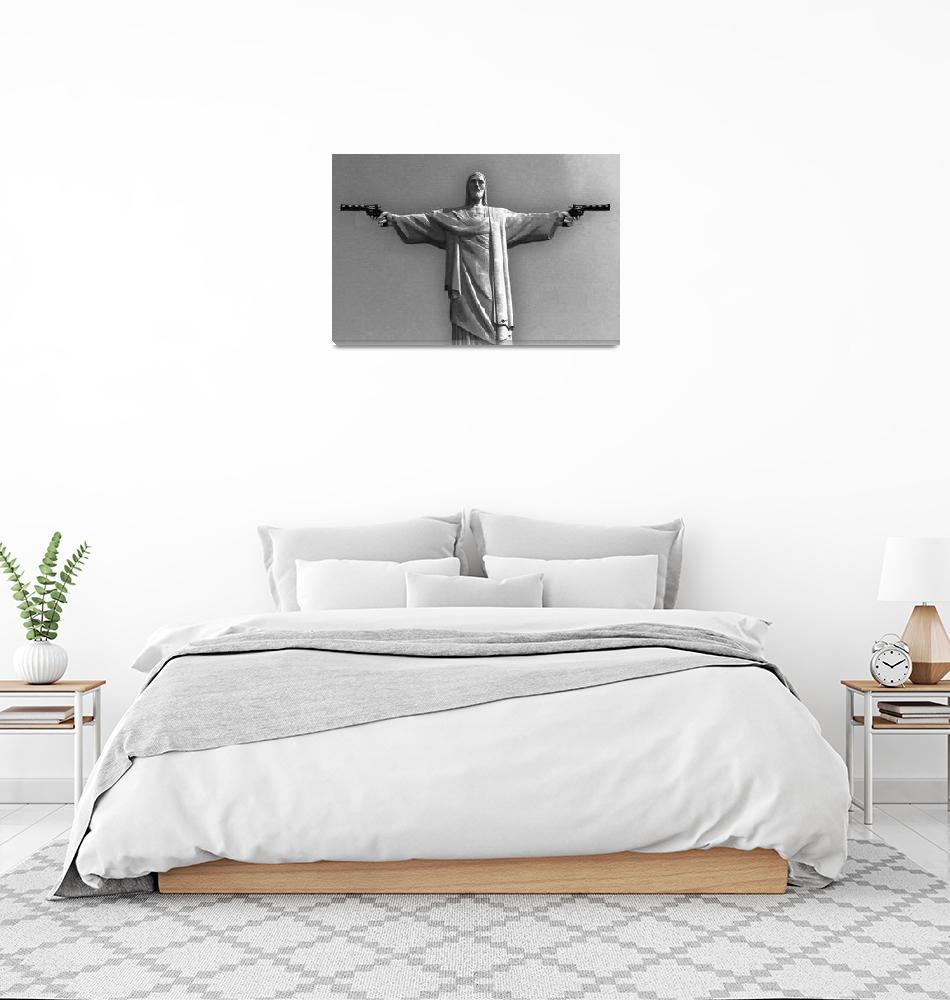 """""""Redemption Black And White""""  (2015) by RubinoFineArt"""