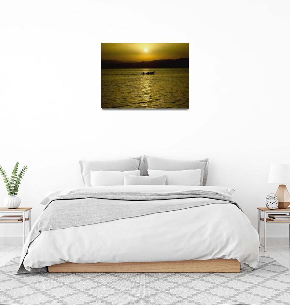"""Sunset fishing""  by PecoGrozdanovski"
