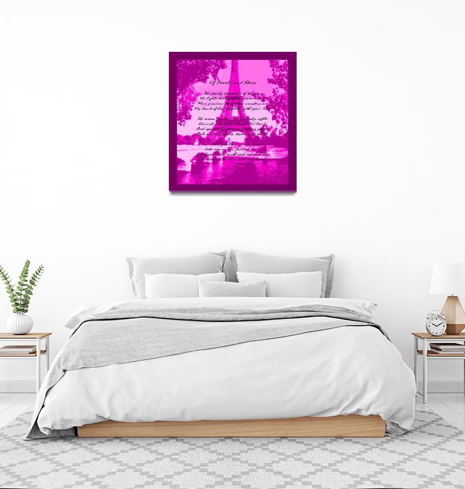 """""""Of Pearls & Stars Violet Pink Eiffel Tower""""  (2013) by TheNorthernTerritory"""