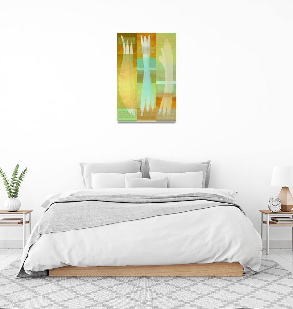 """wall hanging 3 shapes medium"" (2007) by eyecontact"