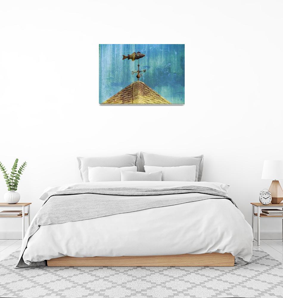 """Chatham Fish Pier Weathervane, Cape Cod""  (2008) by ChrisSeufert"
