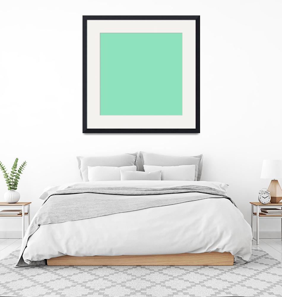 """Square PMS-3375 HEX-8EE2BC Green""  (2010) by Ricardos"