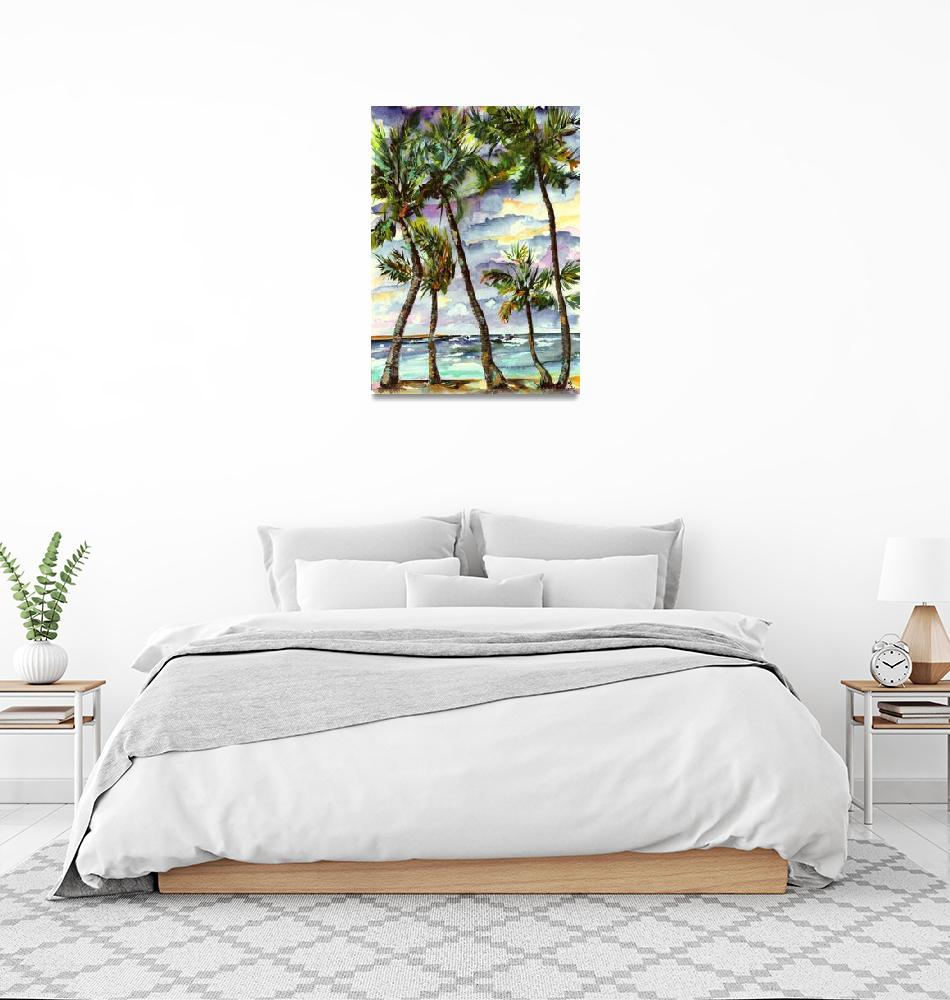 """Bahamas Beach & Palms""  (2004) by GinetteCallaway"