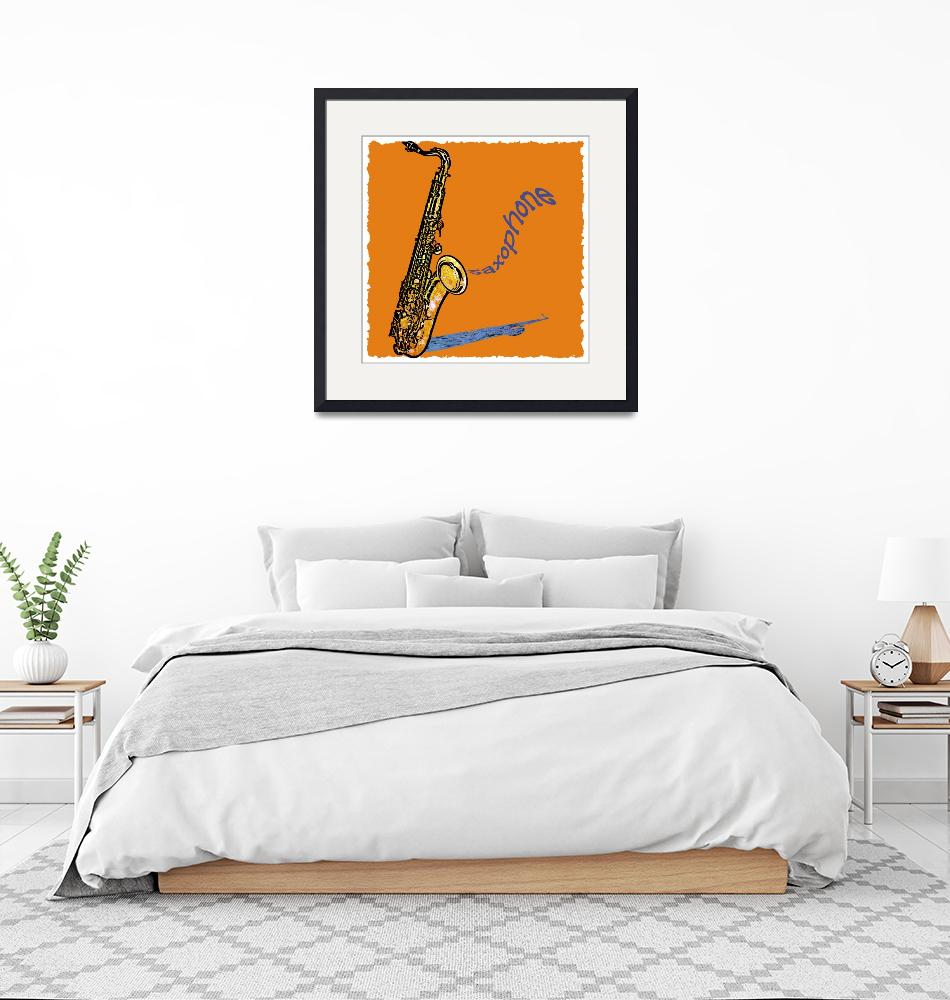"""Saxophone""  by maryostudio"