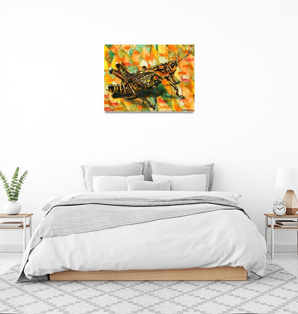 """Glorious Grasshopper""  by schulmanart"