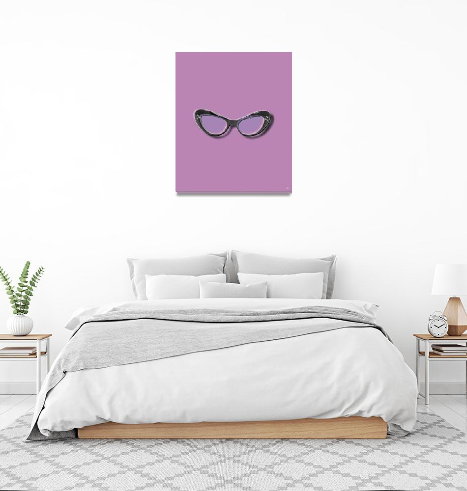 """Retro Glasses Funky Pop Purple""  (2018) by RubinoFineArt"