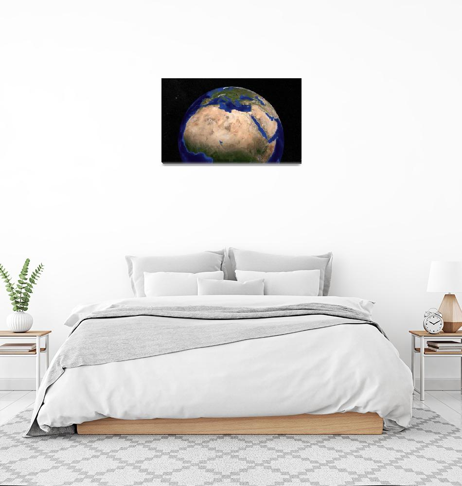 """""""Blue Marble Earth showing North Africa.""""  by stocktrekimages"""