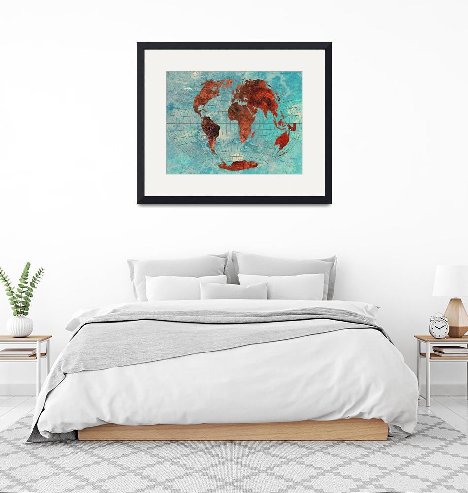 """""""World Map 08"""" (2013) by Marian1"""
