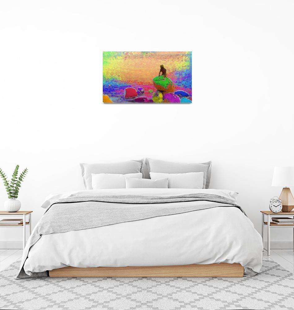 """Rainbow Mermaid""  by GMackenzie"