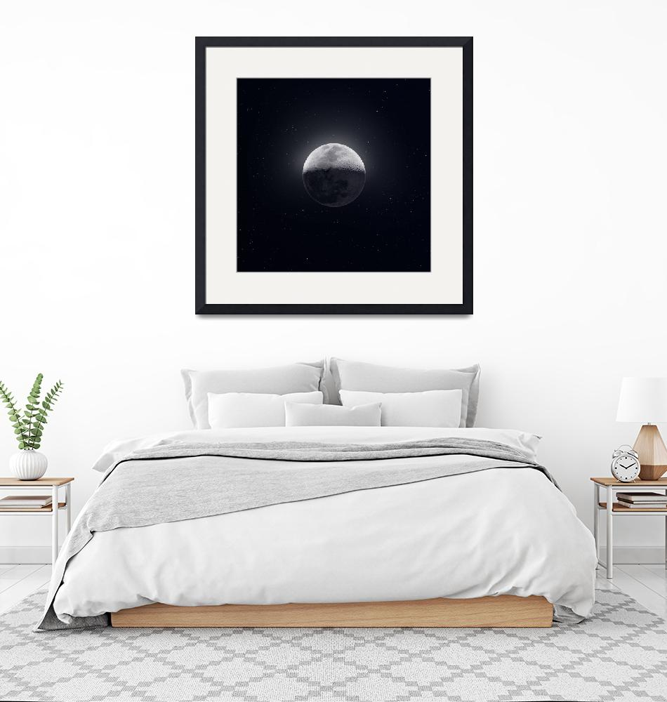 """""""Our Moon with Earthshine""""  (2019) by cosmic_background"""