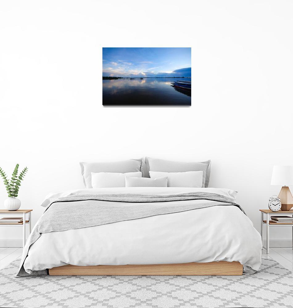 """Suriname River Leonsberg Blue Hours Sunrise""  (2007) by suriname"