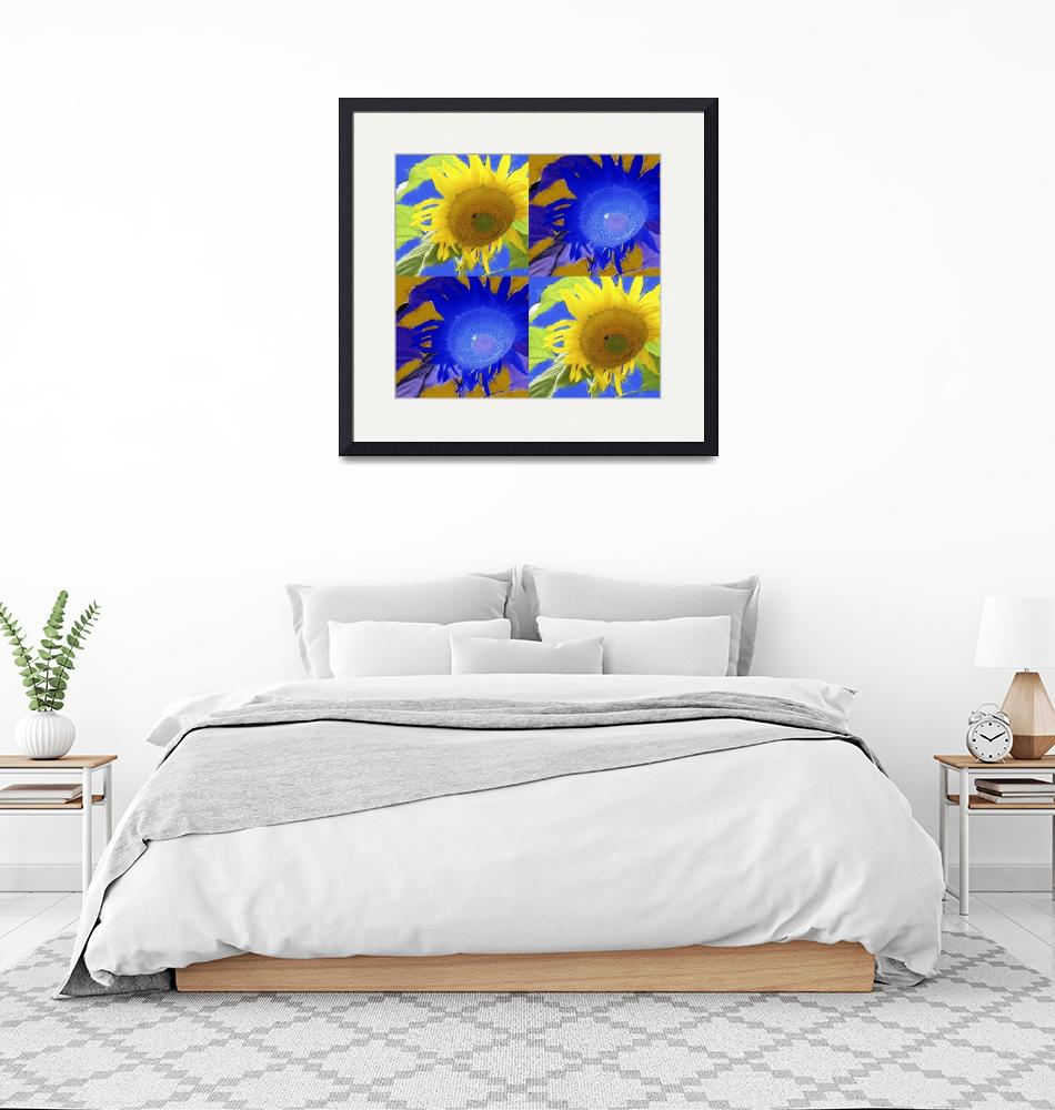 """""""Four Sunflowers""""  by checkman"""