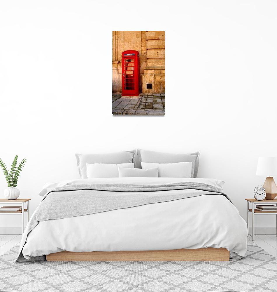 """Red phone booth, Malta""  (2008) by lju"