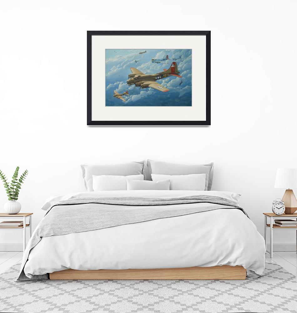 """B-17 Flying Fortress painting -"