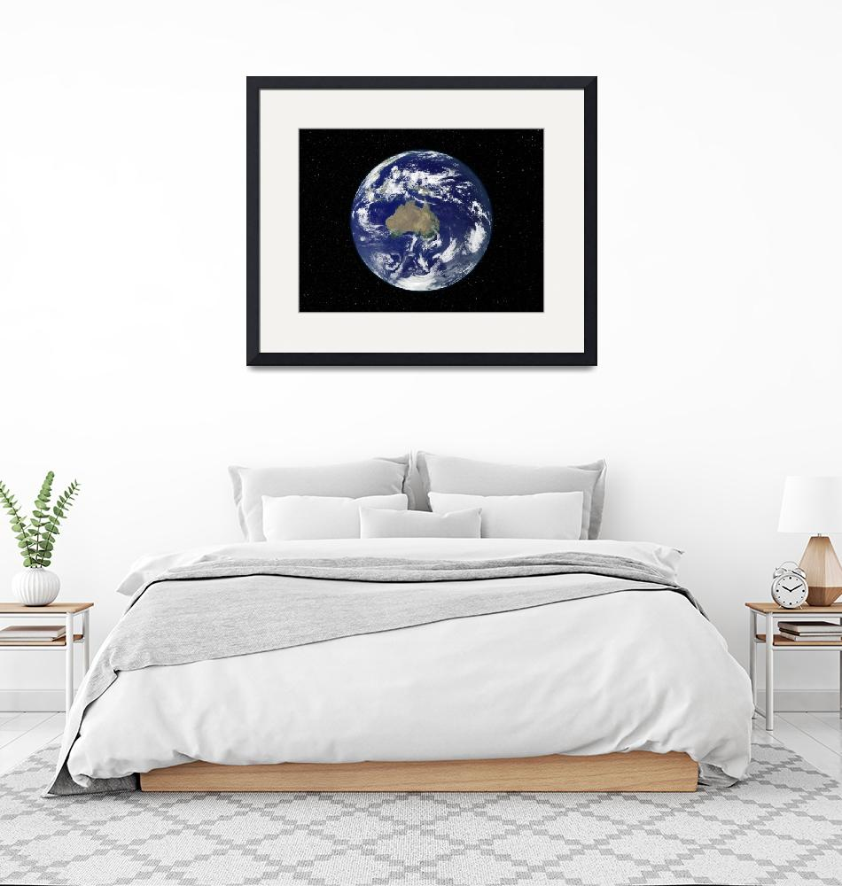 """""""Fully lit Earth centered on Australia and Oceania""""  by stocktrekimages"""
