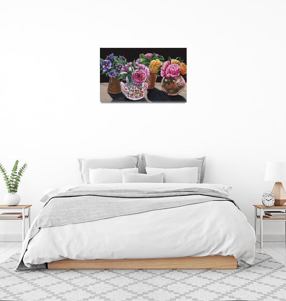 """""""Garden Flowers In The Vases Floral Impressionism""""  (2019) by IrinaSztukowski"""