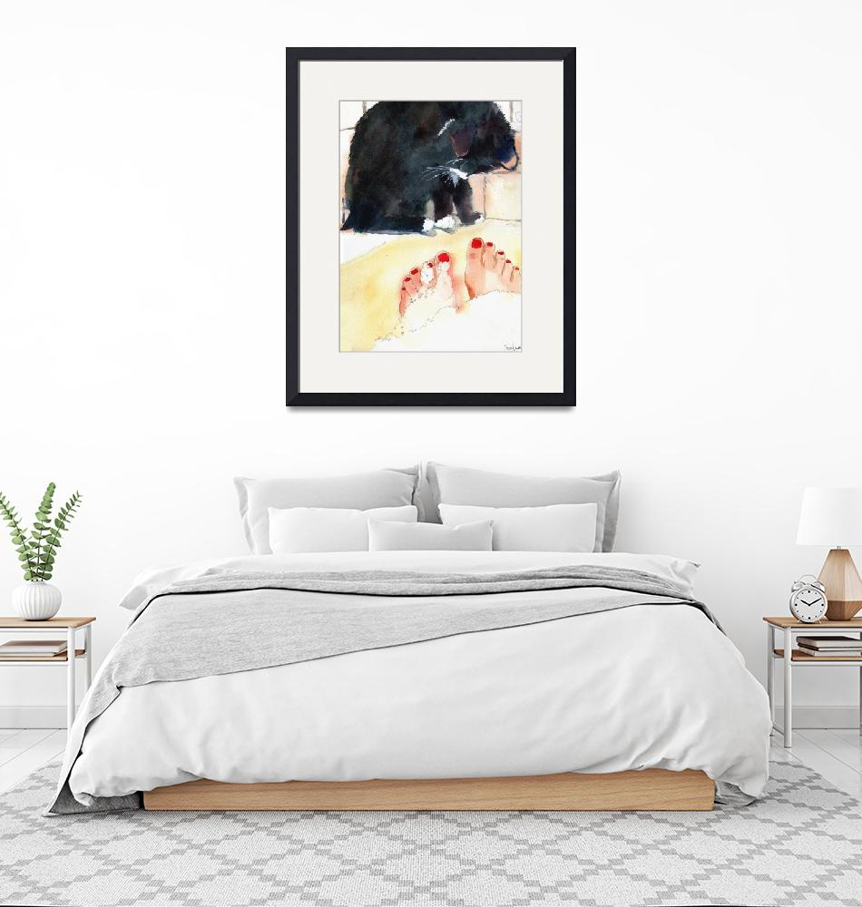 """Tuxedo Cat Art 