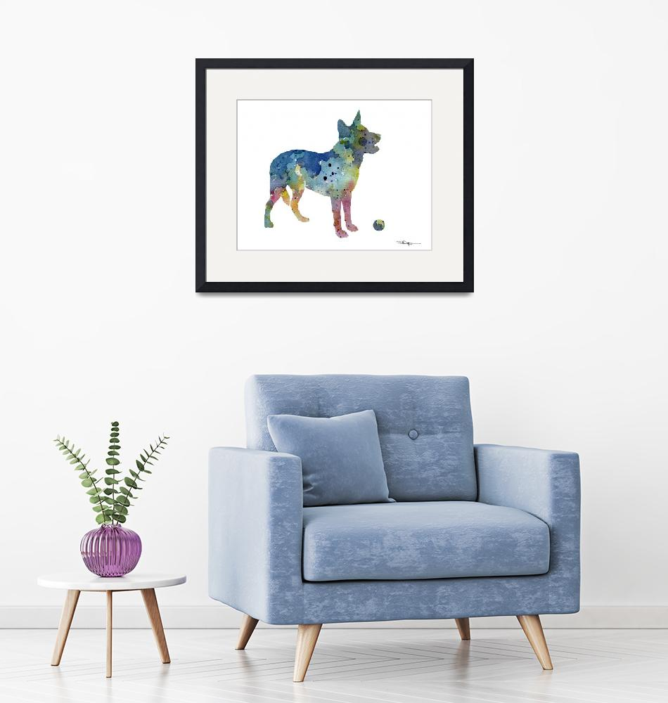 """Australian Cattle Dog""  (2015) by k9artgallery"