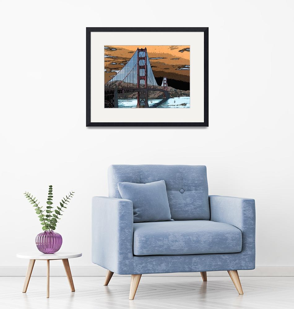 """Storm Over Golden Gate""  (2008) by cityArt"