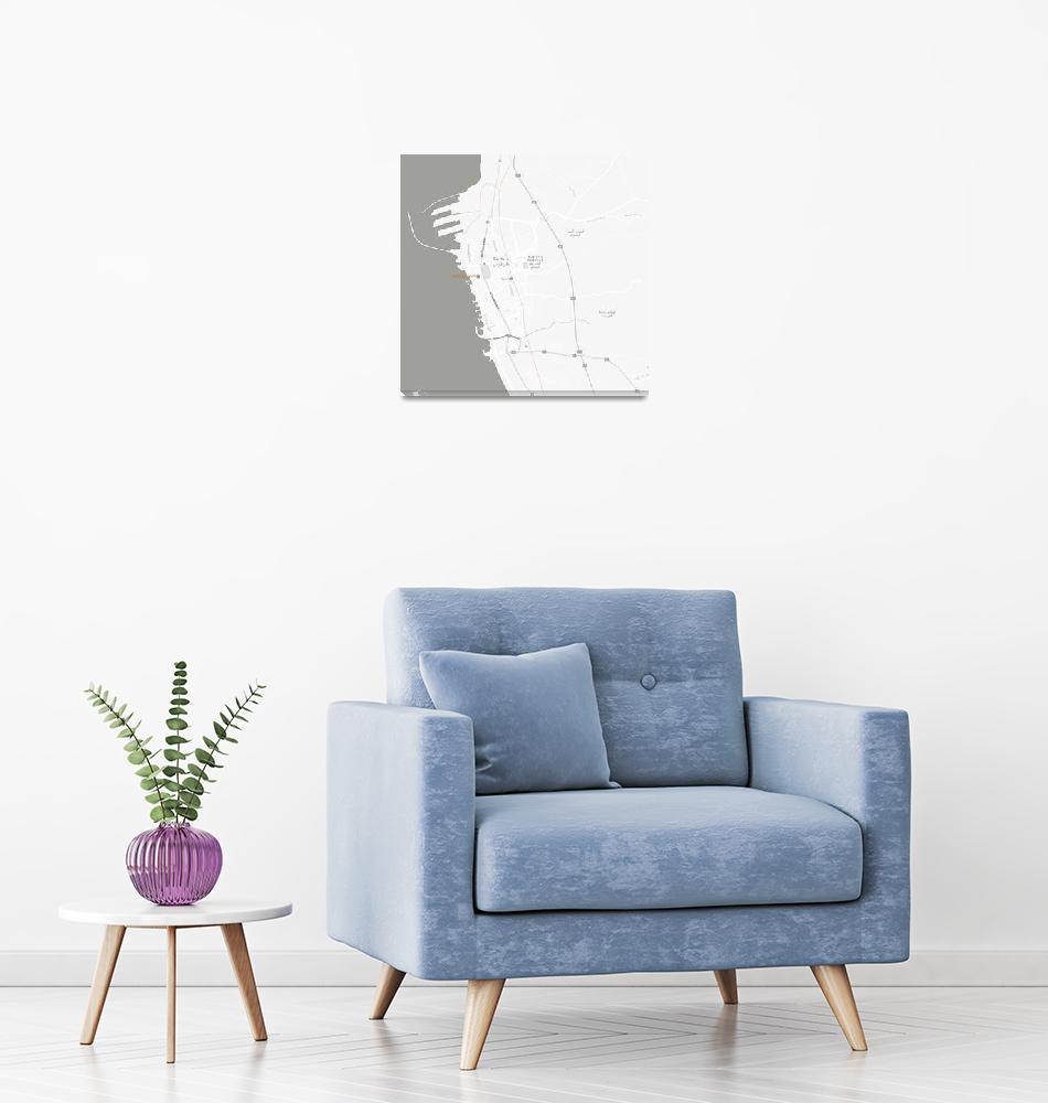 """Minimalist Modern Map of Tartus, Syria 1""  by motionage"