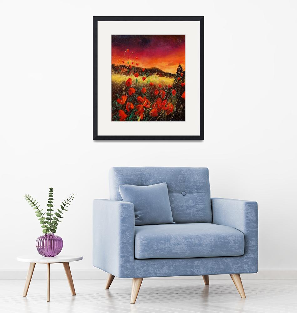 """""""Sunset red poppies 67""""  by pol"""