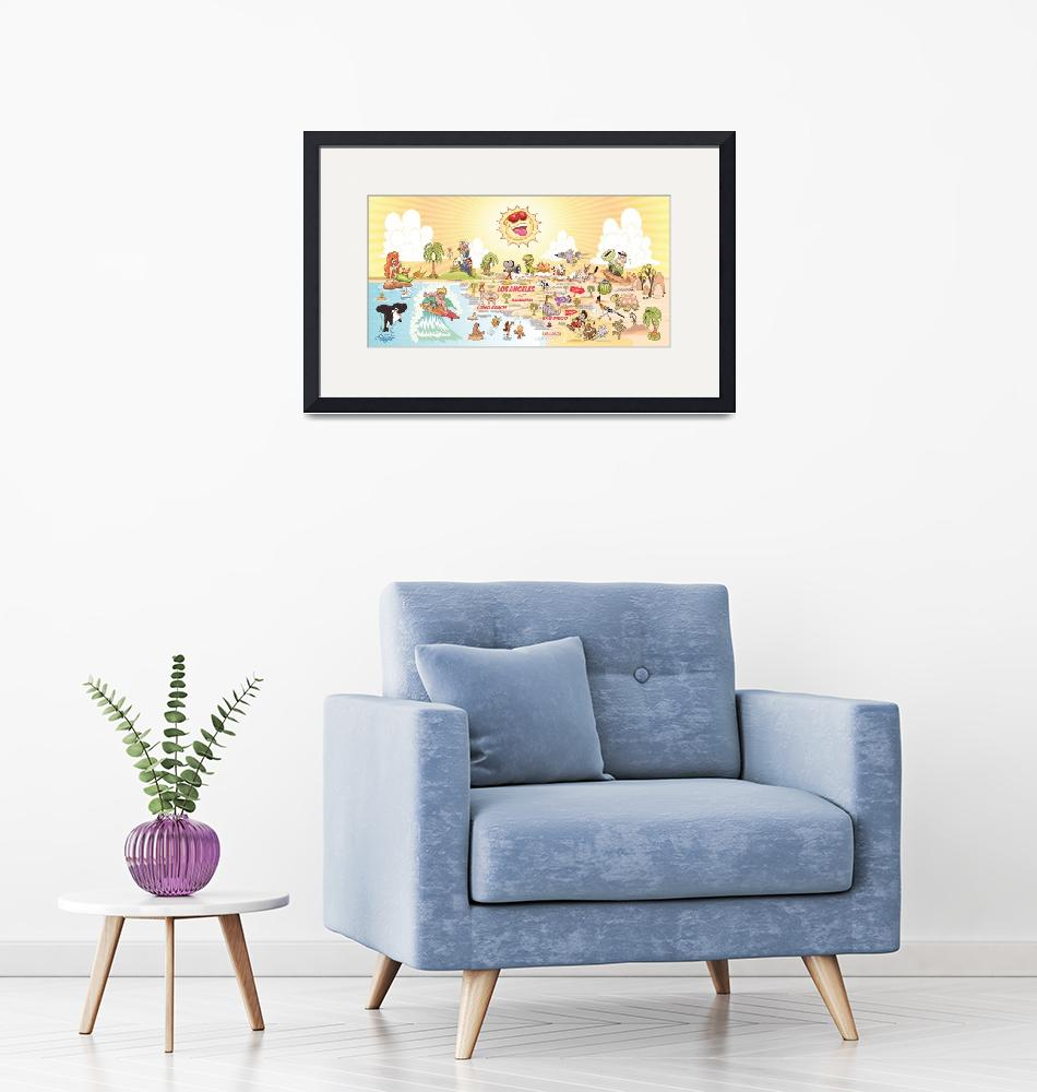 """""""Southern California Beach Paradise Banner"""" (2019) by caricatures"""