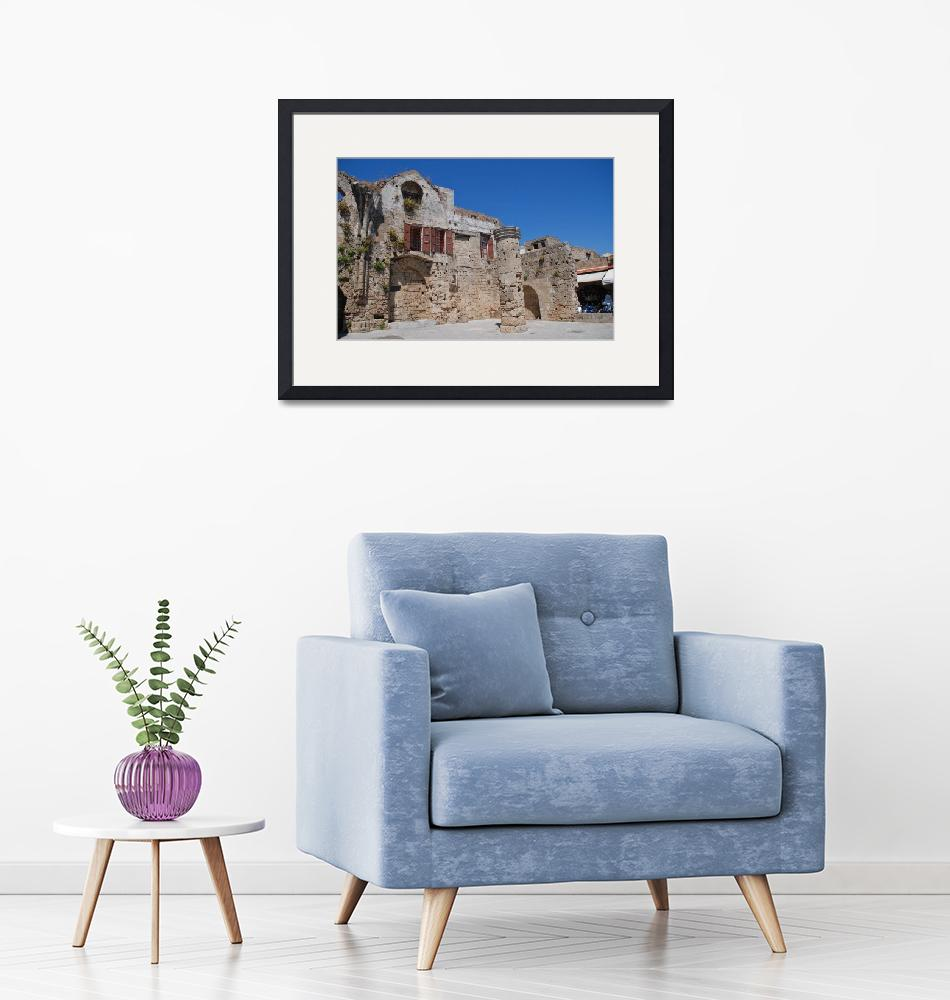 """""""Church of the Virgin of the Burgh, Rhodes""""  (2019) by DavidFowler"""