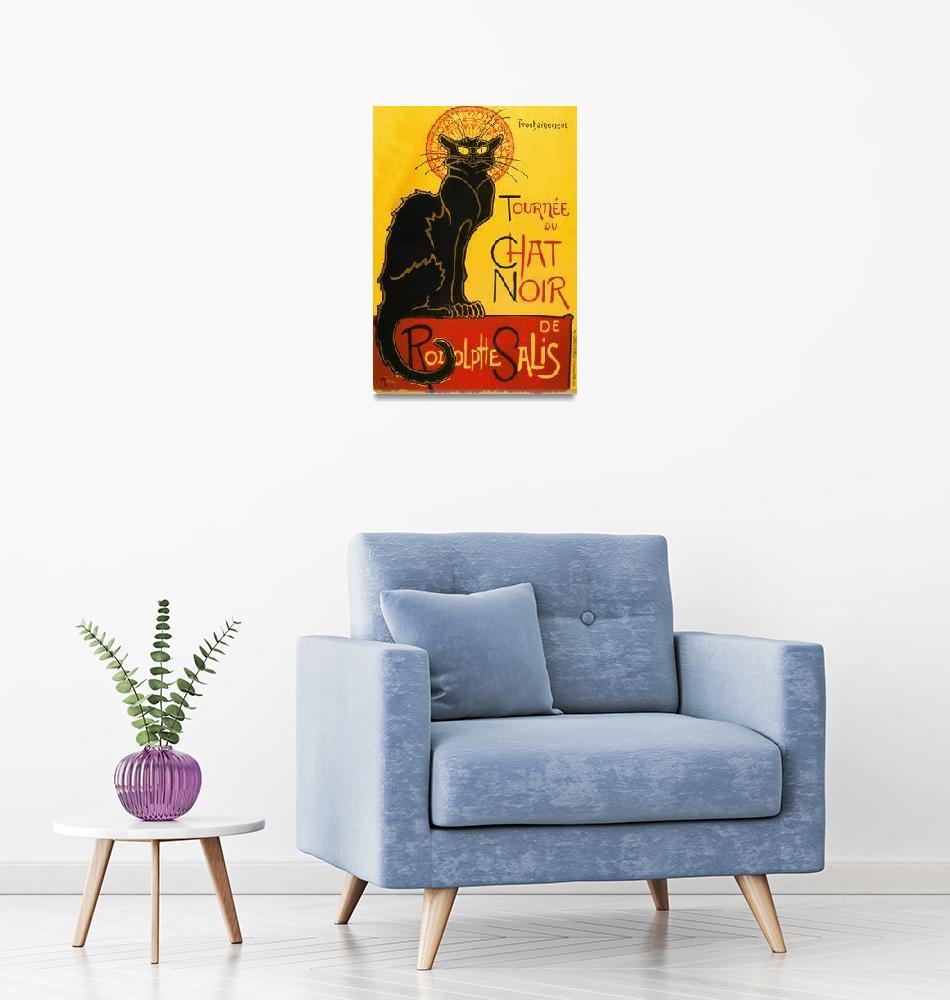 """""""Le Chat Noir The Black Cat Art Nouveau Vintage""""  by artpictures"""