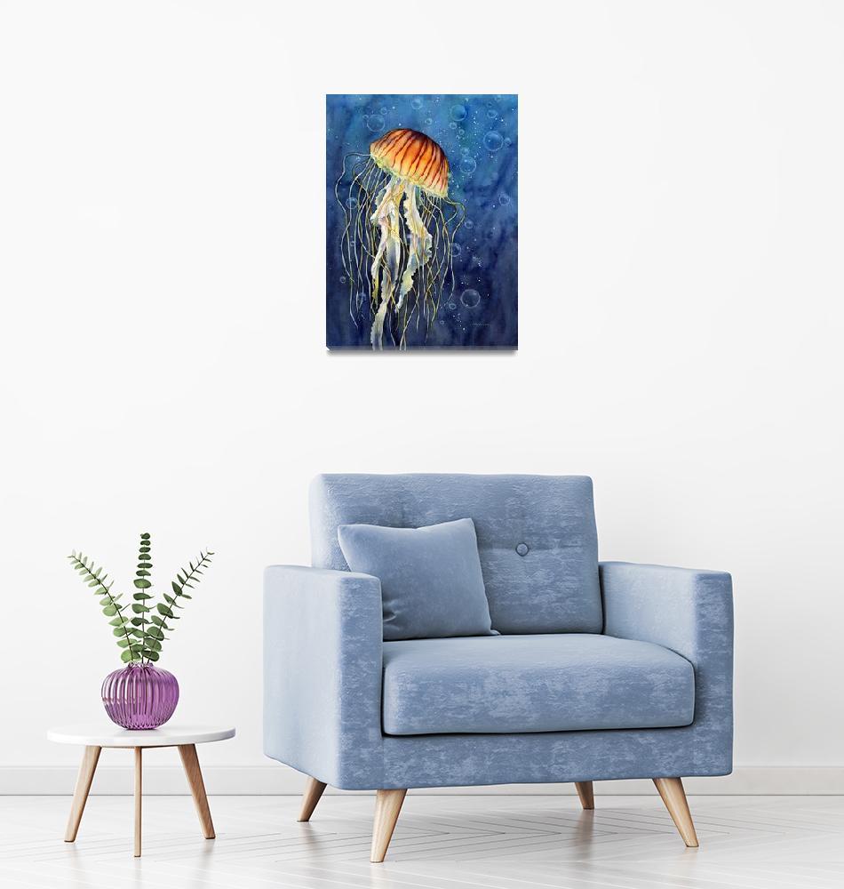 """""""Jellyfish"""" (2015) by HaileyWatermedia"""