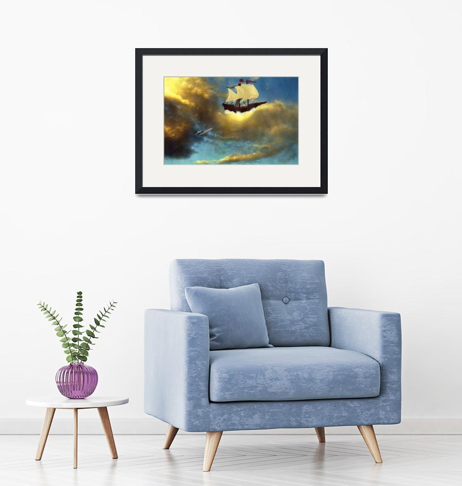 """""""Ship in the Clouds""""  (2004) by TheIcePixy"""