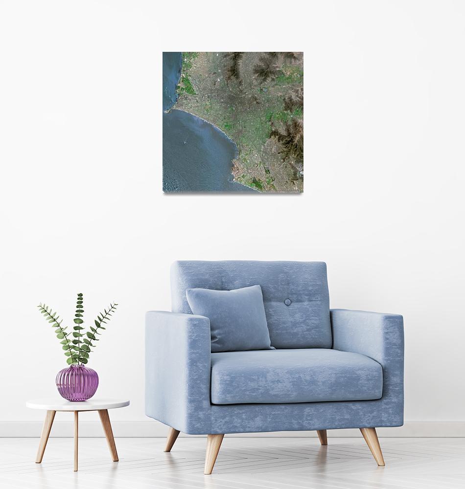 """Lima (Peru) : Satellite Image""  (2002) by astriumgeo"
