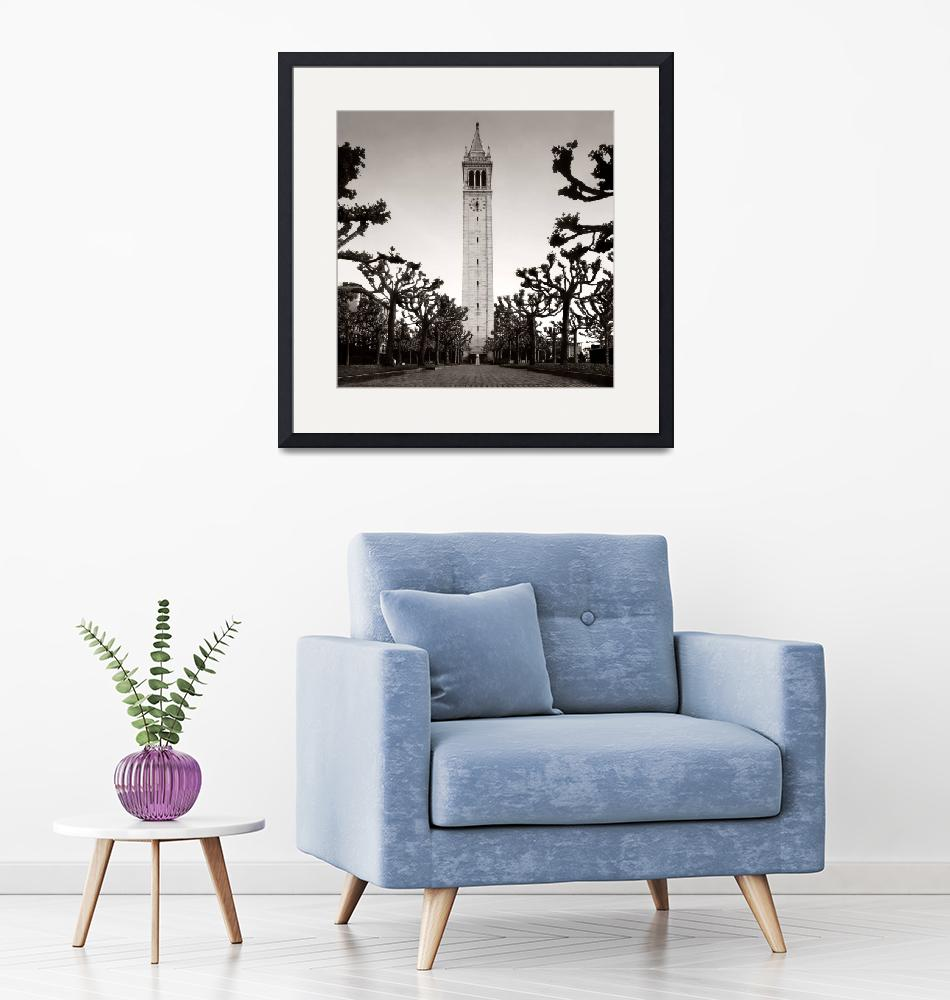 """""""Berkeley Camponile, """"Sather Tower""""""""  (1995) by worldwidearchive"""