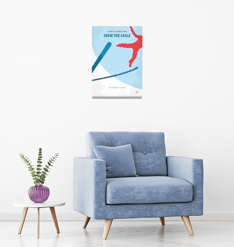 """""""No1143 My Eddie the Eagle minimal movie poster""""  by Chungkong"""