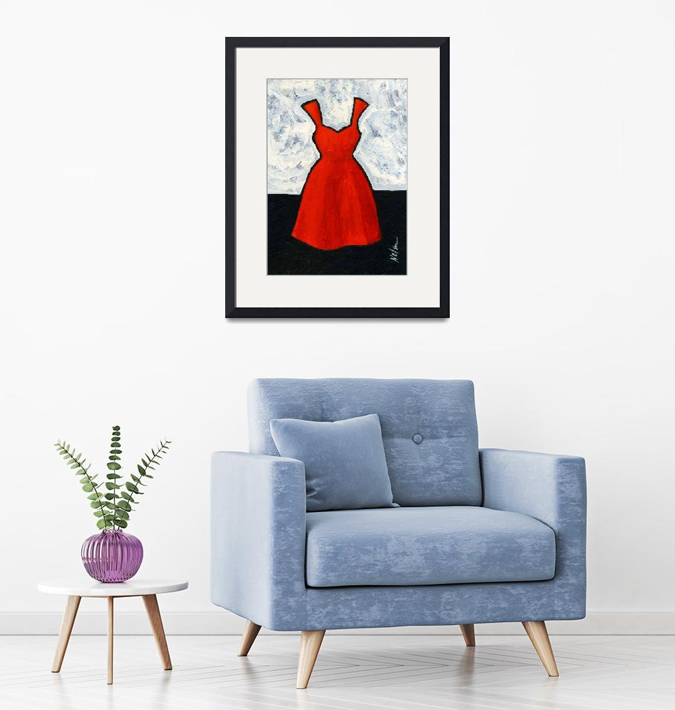 """""""Red Dress""""  (2010) by JanetNelson"""