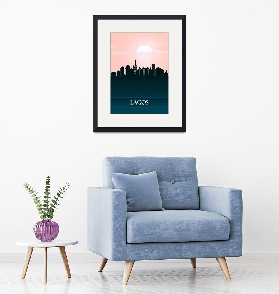 """""""Lagos City Skyline""""  by Towseef"""