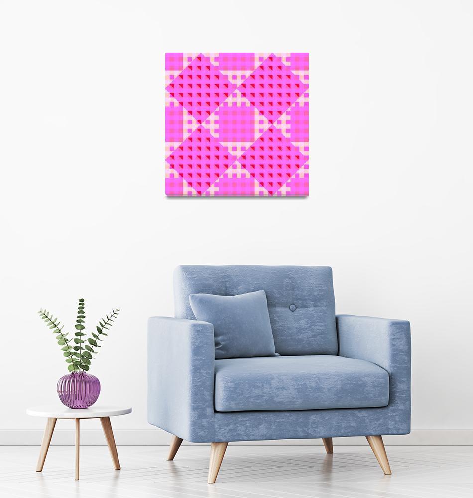 """geometric pink seamless pattern""  by robertosch"